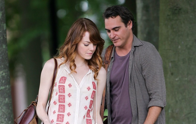 *EXCLUSIVE* Emma Stone, Joaquin Phoenix and Woody Allen take their talent to Rhode Island