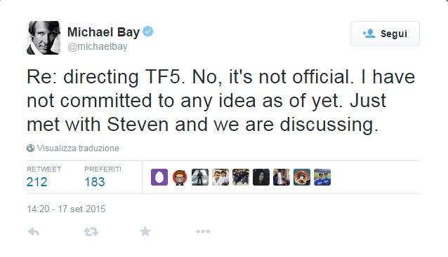 Michael Bay Twitter