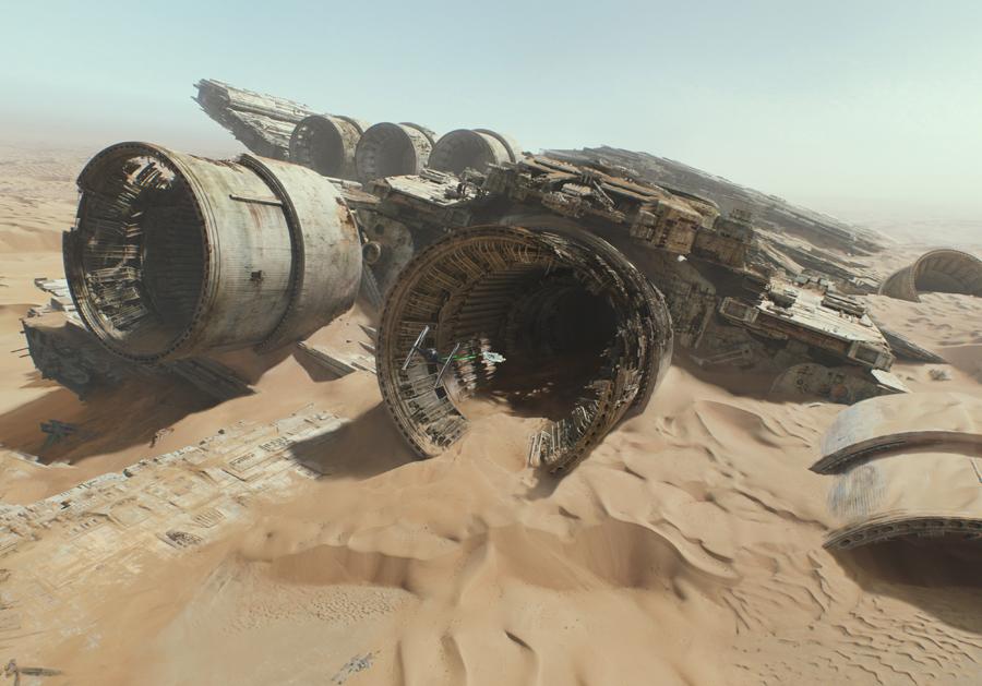 Star-Wars-7-Force-Awakens-Teaser-Trailer-2-Crashed-Ship-on-Jakku