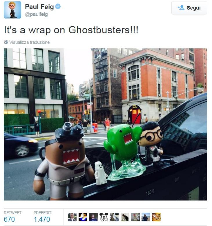 ghostbusters fine riprese