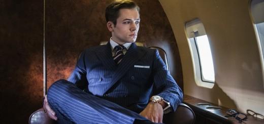 Taron Egerton in una foto di Kingsman - Secret Service riprese