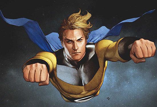 The Sentry sulla cover della serie a fumetti New Avengers #24- Art by Adi Granov