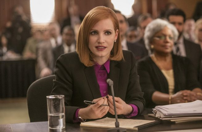 Jessica Chastain in un'immagine di Miss Sloane