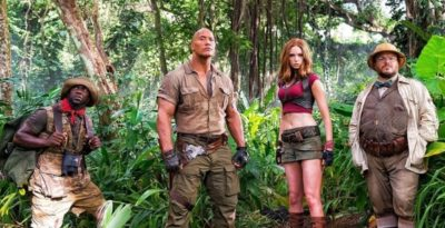 jumanji trailer dwayne johnson