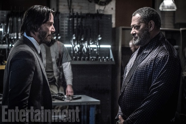 JOHN WICK: CHAPTER 2 (2017) John Wick (Keanu Reeves) and The Bowery King (Laurence Fishburne)