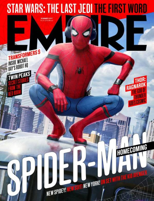 spider-man homecoming cover empire