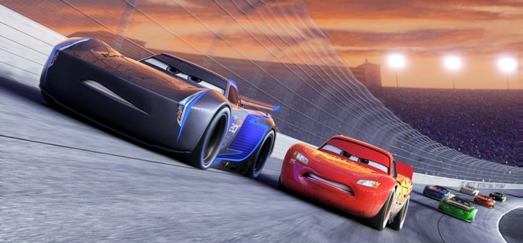"cars 3 trailer italiano NEXT-GEN TAKES THE LEAD — Jackson Storm (voice of Armie Hammer), a frontrunner in the next generation of racers, posts speeds that even Lightning McQueen (voice of Owen Wilson) hasn't seen. ""Cars 3"" is in theaters June 16, 2017. ©2016 Disney•Pixar. All Rights Reserved."