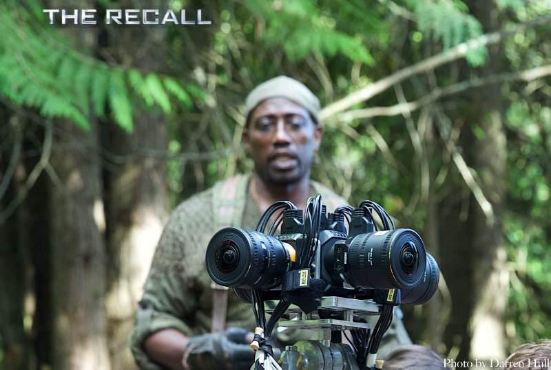 Wesley Snipes in una foto dal set di The Recall
